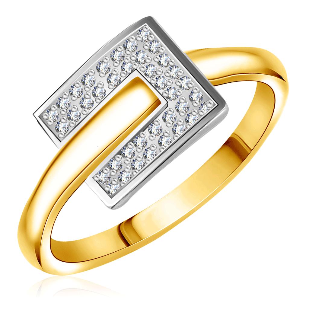 Кольцо с бриллиантами из желтого золота RD0000015305