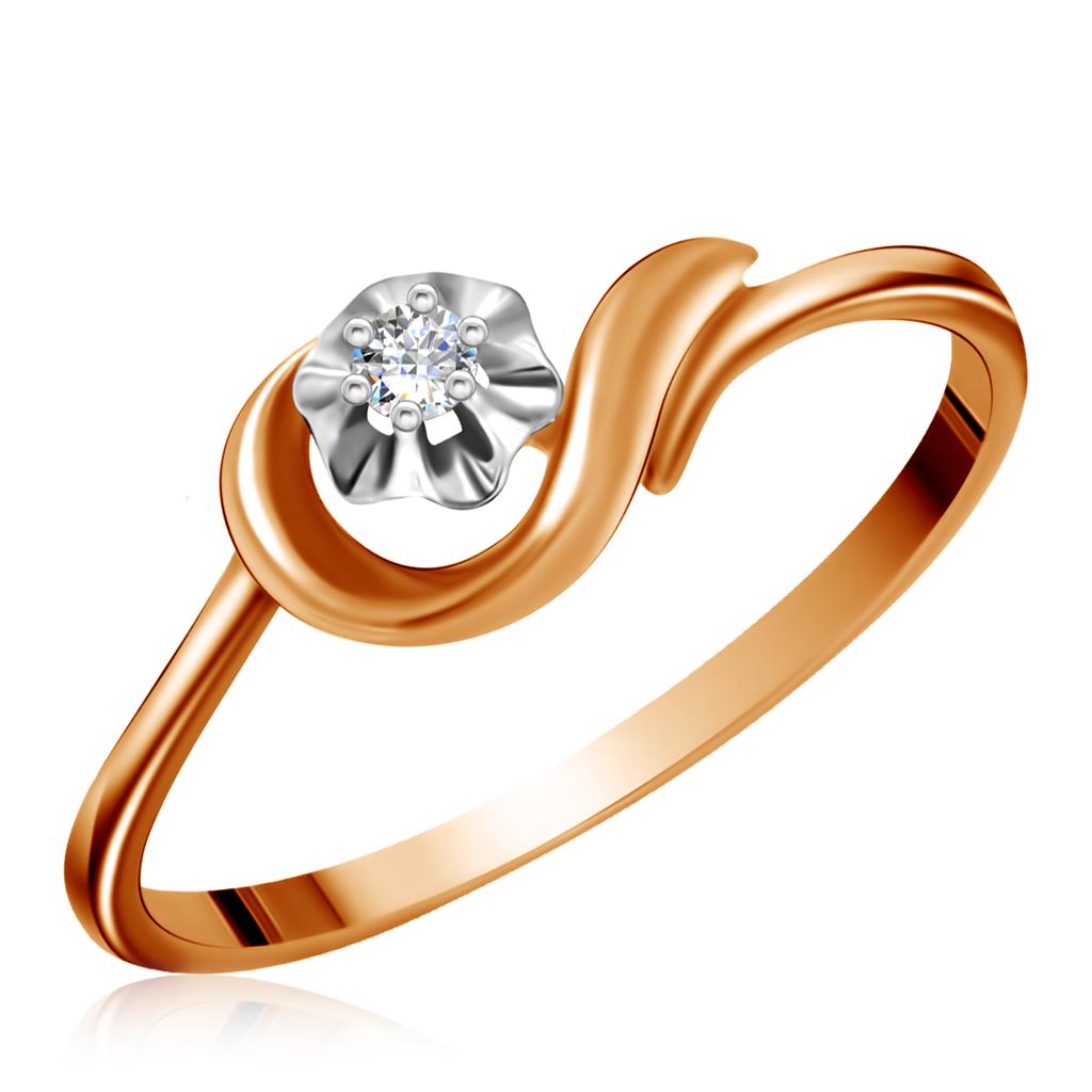 Купить Кольцо из золота с бриллиантом 1011397