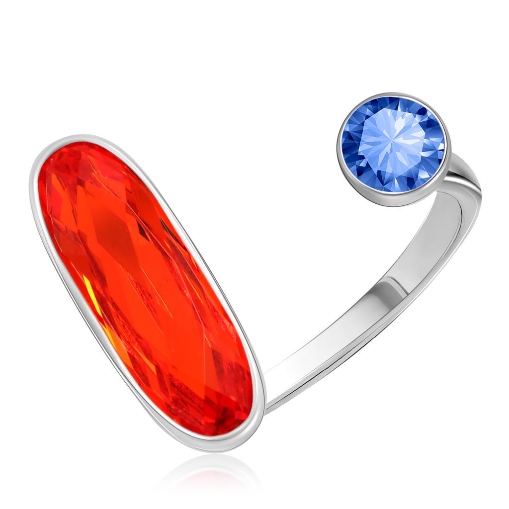 Кольцо из серебра с кристаллами Сваровски 94011883