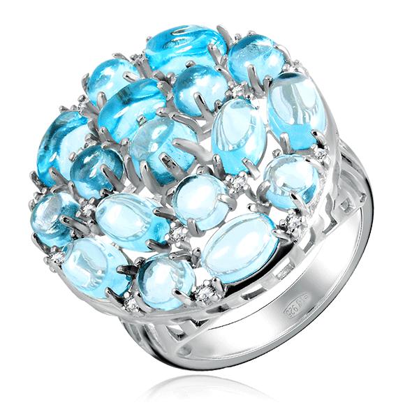 Кольцо с топазом из серебра 92010655