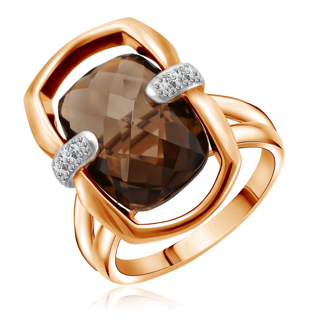 Кольцо с раухтопазом из золота 25615054