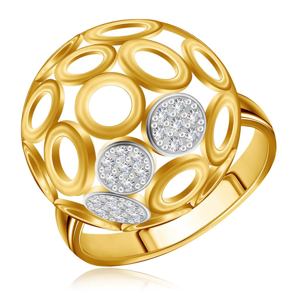 Кольцо из золота с бриллиантами со скидкой