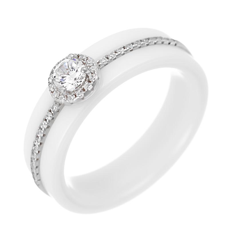 Кольцо из серебра TC-R01166-W-W-W-X-W